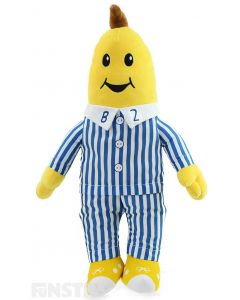 B2 plush soft toy is soft and cuddly is his classic blue and white striped pyjamas with stitched facial features and is large and huggable in size for lots of cuddles and fun imaginative play.
