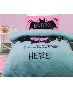 Batgirl sleeps here is the perfect bed set for female fans of the DC Comics superheroine in Gotham City.
