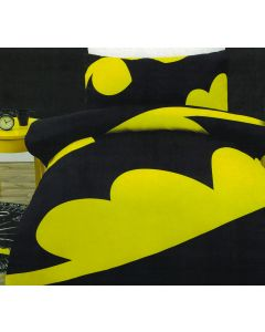 The Dark Knight of Gotham City will stand watch over your room with this epic Batman logo design.