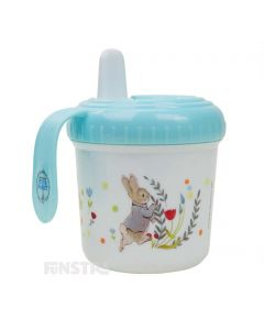 Little ones can enjoy a refreshment with Peter Rabbit and this adorable Beatrix Potter Peter Rabbit sippy cup.