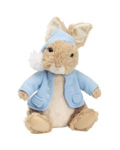 Beatrix Potter's Peter Rabbit animated plush toy from GUND is ready for bedtime and plays Brahms Lullaby.