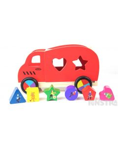 Little wiggles can learn shapes and colors with all their favorite Wiggles characters on building blocks and the Big Red Van.
