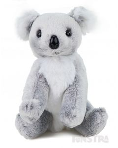 Kenny Jnr is a super-soft and snuggly koala stuffed toy with a thick grey coat, large black nose and bushy oversized ears to resemble his unique species, an Australian animal that's loved around the world.