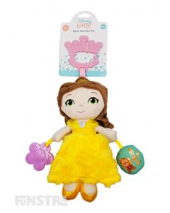 The Belle from Beauty and the Beast activity toy helps to develop your little one's senses and fine motor skills with a rattle, squeaker and teether from Disney Baby.