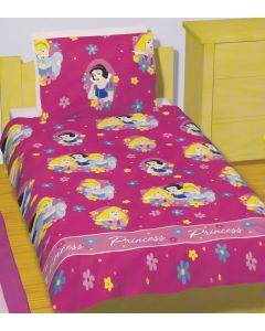 Disney Princess Pretty Pink Bedding Quilt Cover Set