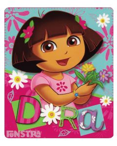 Dora the Explorer Flowers Blanket