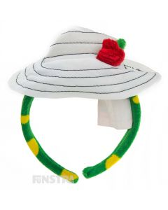 With Dorothy's floppy hat and red rose attached, the Dorothy headband makes a great accessory to complete your Dorothy the Dinosaur costume.
