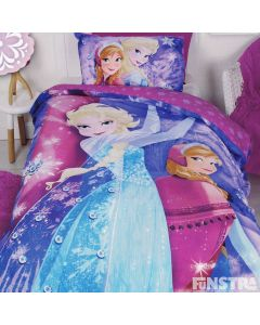 Frozen Sparkle Quilt Cover Set