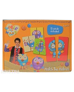 Giggle and Hoot Match the Halves Educational Game