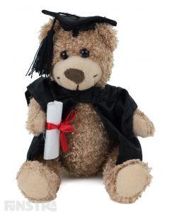 Graduation Teddy Bear Plush Toy with Academic Cap Cape & Award