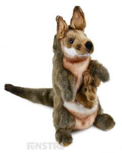 Hansa Creation Realistic Kangaroo & Joey Puppet