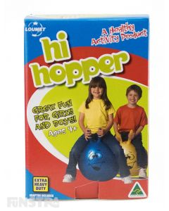 A red hi hopper that's super bouncy and hopping good fun!