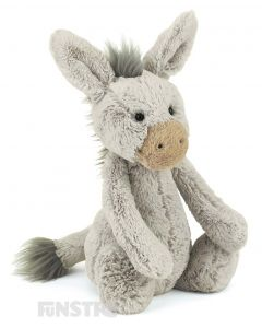 Jellycat Donkey Bashful Medium Plush Toy