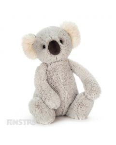 With beautifully soft and silky grey fur, the bashful Jellycat koala from Down Under is a true blue friend and loves a cuddle.