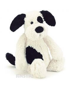 Jellycat Black & Cream Puppy Bashful Medium Plush Toy