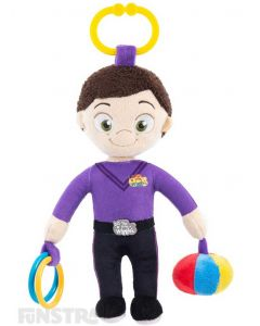 The purple Wiggle, Lachy, plush toy and blanket is super soft and ready for lots of cuddles to comfort baby.