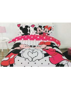 Mickey Hearts Minnie Quilt Cover Set