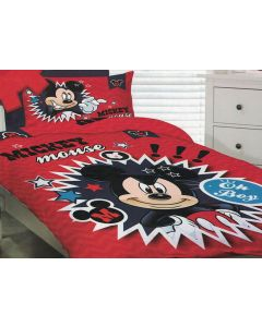 Mickey Oh Boy Quilt Cover Set