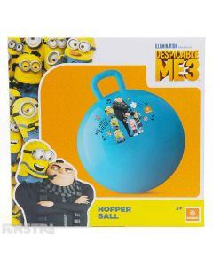Bounce into mischief with Bob, Stuart, Dave and the Gru family on this blue space hopper ball.