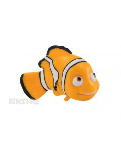 'I'm from the ocean.' Nemo is a curious clownfish that yearns for adventure and is a fun toy for imaginative play and makes a cute cake topper for your Finding Nemo party.