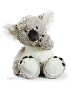 With a cheeky and mischievous face, button eyes and the cutest squashy nose, the Nici Wild Koala stuffed animal will warm your heart and put a smile on your face.