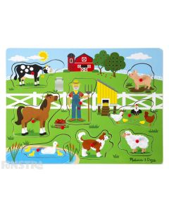 Sing along to Old Macdonald Had a Farm with this fun sound jigsaw puzzle from Melissa & Doug.