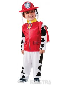Dress up as Marshall the Dalmatian puppy, wearing his fire pup jumpsuit, hat, pup pack and fire badge.