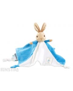 Peter Rabbit blankey is an adorable companion and comfort object for infants from the Beatrix Potter collection.