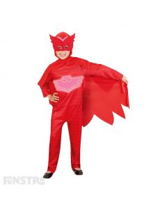 'Fluttering feathers!' It's Owlette from PJ Masks. Transform into a red owl superhero by night, just like Amaya, with wings and super powers when she puts on her pyjamas and activates her animal amulets.
