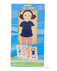 Dressing up Jemima is lots of fun with this wooden Play School jigsaw puzzle, featuring four super cute dress ups.