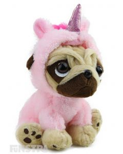Pugsley Unicorn Plush Light Pink