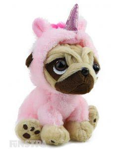 Pugsley Unicorn Plush Light Pink