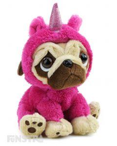 Pugsley Unicorn Plush Pink