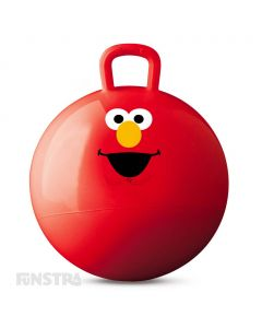 Bouncing with Elmo is not only lots of fun, but keeps children physically active at play.