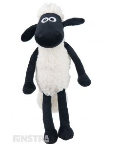 Anyone that loves of the animal antics of Shaun and his barnyard buddies will adore this fun black and white stuffed animal.