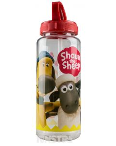 Keep hydrated with Shaun the Sheep and Bitzer the Dog with this fun drink bottle.