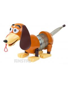 Slinky Dog is one of Andy's beloved toys from Toy Story that will follow along when pulled.