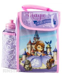 Sofia the First Lunch Bag with Bottle