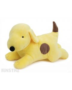 Spot the dog is a cute plush friend and the lying Spot stuffed toy features the lovable yellow puppy dog in a playful position ready for lots of fun playtime and adventures.