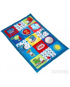 Great for early development and sensory play, the My First Thomas activity playmat features a removable mirror and teethers, a peekaboo flap, crinkle and squeaker.
