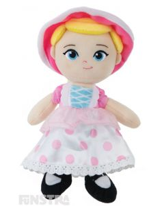 Soft and cuddly Disney Baby plush beanie toy of Bo Peep wears her bonnet and dress costume and is the perfect friend for children of all ages to take on adventures.