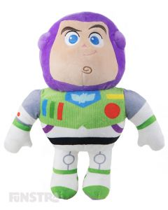 Super soft and cuddly Disney Baby plush toy of Buzz Lightyear wears his signature space suit costume with wings and is sure to put a smile on the faces of children of all ages.
