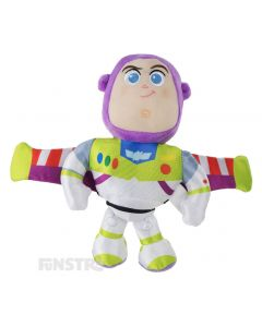 Soft and cuddly Disney Baby plush beanie toy of Buzz Lightyear wears his signature space ranger costume and is the perfect friend for children of all ages to take on adventures.