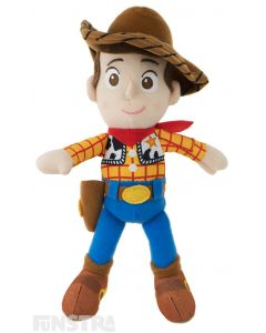 Soft and cuddly Disney Baby plush beanie toy of Sheriff Woody Price wears his signature cowboy costume and is the perfect friend for children of all ages to take on adventures.