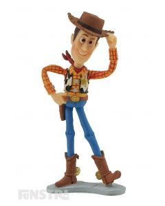 It's Andy's favorite toy from Toy Story. Sheriff Woody is a vintage pull string cowboy toy, a fun toy for imaginative play and makes a cute cake topper for your Toy Story party.
