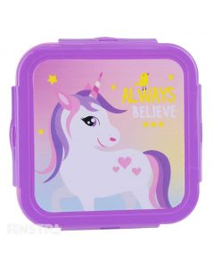 'Always Believe' unicorn lunch box