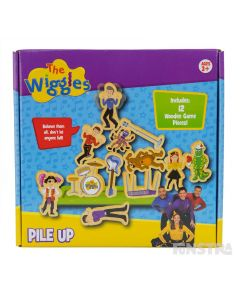 Little Wiggles will enjoy the Wiggles Pile Up Game, featuring all your favourite characters from the Australian musical group.