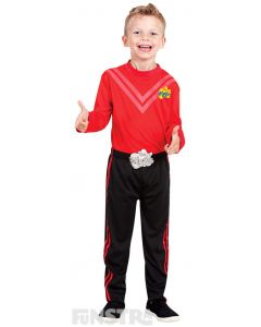 Dress up as the red Wiggle, Simon Pryce, who loves to sing opera, wearing a red shirtand black pants.