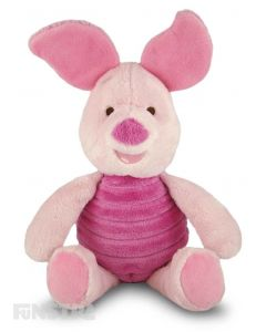 Soft and cuddly Disney Baby plush toy of Piglet with rattle to entertain babies.