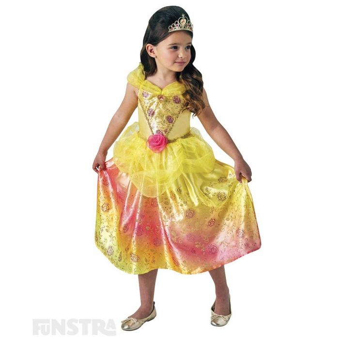 Be a part of the tale as old as time until the last petal falls and become the fairest of them all when you dress up as Belle from Beauty and the Beast with this beautiful Disney Princess costume for children.